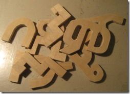 Amharic wooden letters
