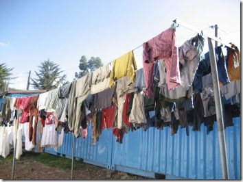 Cloth line at the Toukoul Orphanage