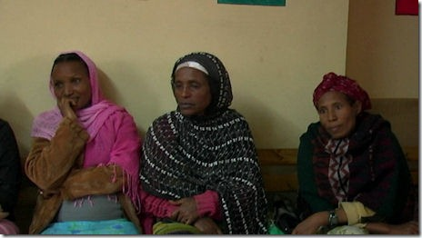 Ethiopian women at an HIV center in Ethiopia