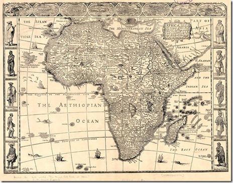 1625 Africa map