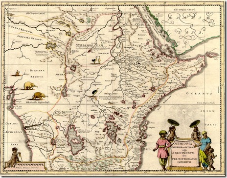 Abyssinia Map - 1690