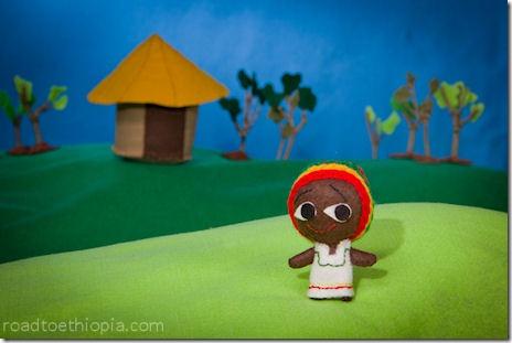 Ethiopian Doll - Rastafarian hat
