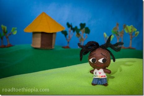 Ethiopian Doll - I love Ethiopia