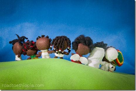 Ethiopian Dolls - back