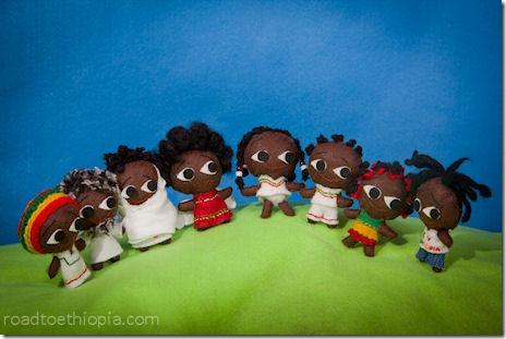 Ethiopian Dolls - front