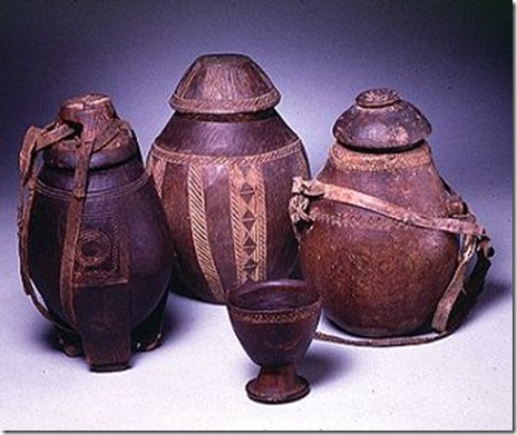 Carved Milk containers