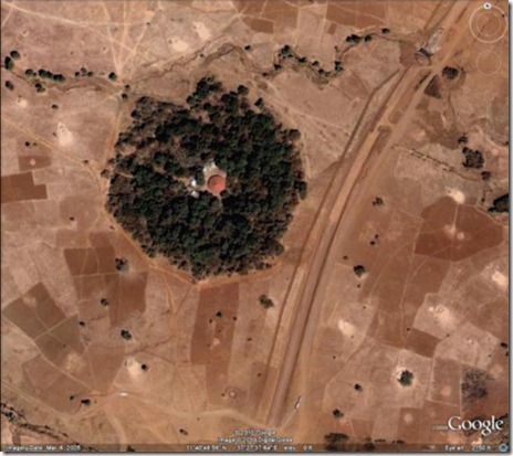 Aerial: Ethiopian Church Forest