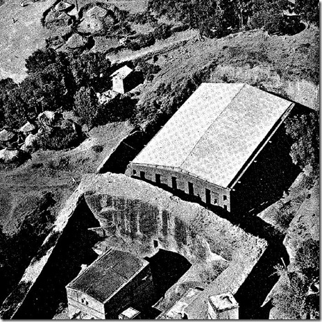 Old photo of Lalibela's first group of churches