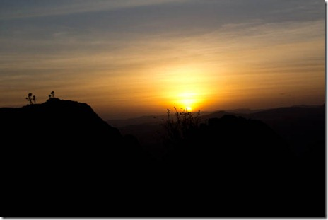 Oh, the Ethiopian sunsets!
