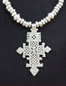 Ethiopian necklace cross
