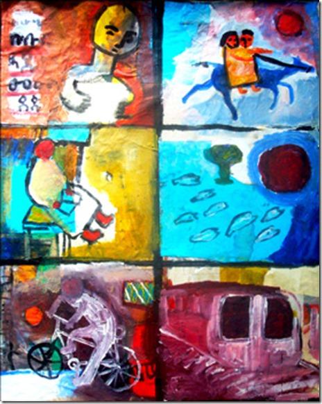 Childhood 8 by Alemayehu Wariyo