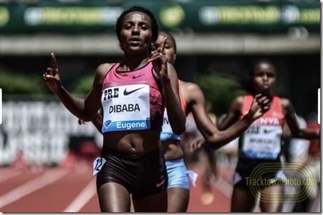 Tirunesh Dibaba at the Prefontaine Classic 2013