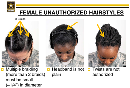 Unauthorized Hairstyle